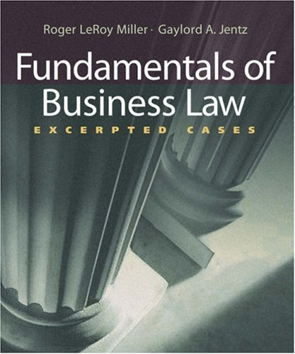 Fundamentals of Business Law: Excerpted Cases (with Online Legal Research Guide)