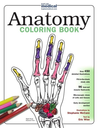 Anatomy Coloring Book For Health Professionals : Medical books kaplan anatomy coloring book pdf