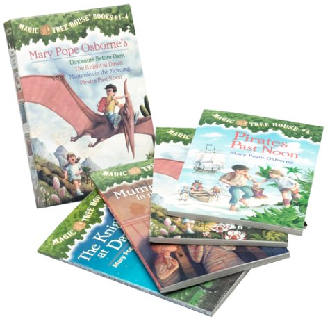 Magic Tree House Boxed Set 1, Books 1-4:  Dinosaurs Before Dark, The Knight at Dawn, Mummies in the Morning, and Pirates Past Noon