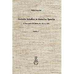 Gotische Schriften in deutscher Sprache