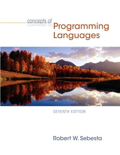 Concepts of Programming Languages (7th Edition)