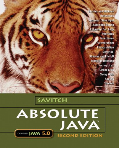 Absolute Java with Student Resource Disk (2nd Edition) (Savitch Series)