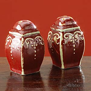 The Bombay Company Store: Oxblood Salt and Pepper Set :  salt and pepper set crimson bombay oxblood
