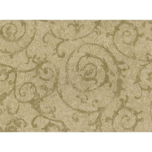 "Waverly"" Double-Roll Velletri Wallpaper - Sage"