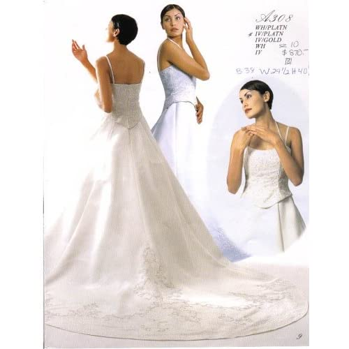 ivory wedding dress A308