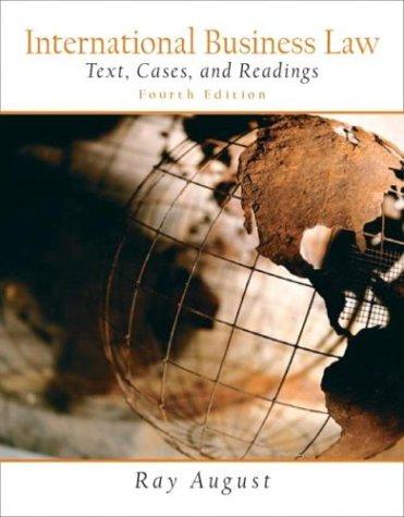 International Business Law, Fourth Edition