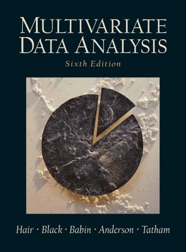 Multivariate Data Analysis (6th Edition)