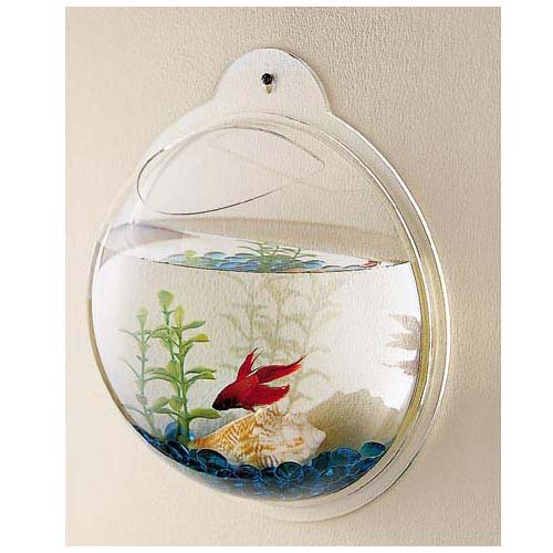 pet supplies fish bubbles wall hanging fish tank
