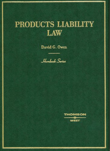 Products Liability Law Hornbook