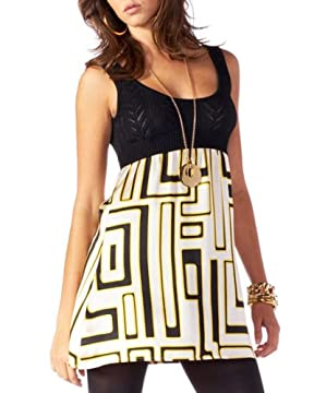 bebe.com : Silk Charmeuse Puzzle Print Shift Dress :  shift minidress silk charmeuse puzzle print shift dress scoop-neck