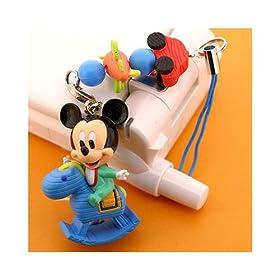 【クリックでお店のこの商品のページへ】DISNEY モクバストラップ (ミッキーマウス)