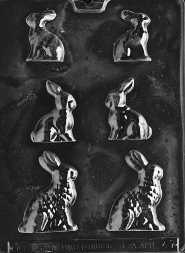 3 SIZED BUNNIES - LARGE/MEDI Easter Candy Mold