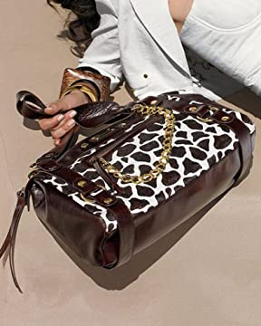 bebe.com : Giraffe Print Haircalf Satchel from bebe.com