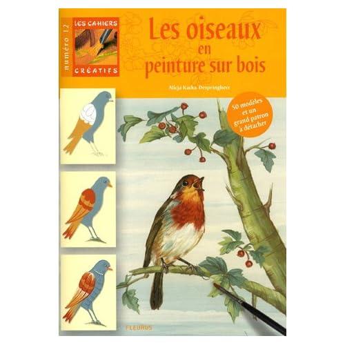 Les oiseaux en peinture sur bois