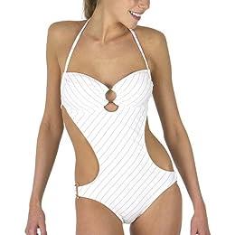 Target : Xhilaration® Lurex Stripe Monokini - White