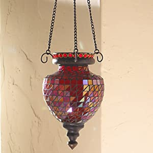 The Bombay Company Store: Red Mosaic Tealight Lantern