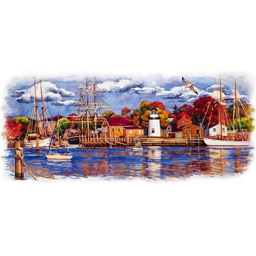 "Seaside Wallpaper Mural, 108"" x 72"""
