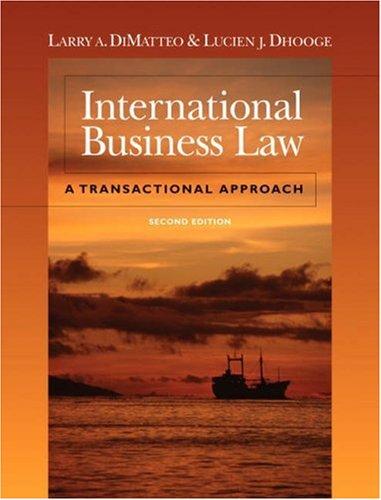 International Business Law: A Transactional Approach