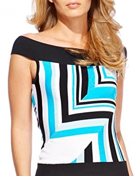 bebe.com : Ribbed Off-Shoulder Geometric Top :  com ribbed off-shoulder geometric top womens apparel shoulder