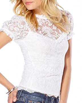 bebe.com : Lace Open Back Top :  lace design designer lace open back top