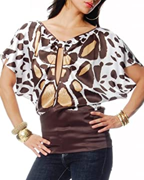 bebe.com : Silk Butterfly Wing Print Top :  womens clothes designer butterfly silk butterfly wing print top