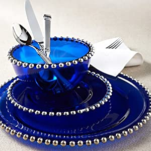 The Bombay Company Store: Cobalt Blue Dinnerware :  dinnerware cobalt beads blue