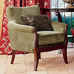 The Bombay Company Store: Voltaire Accent Chair :  accent mahogany chenille chair
