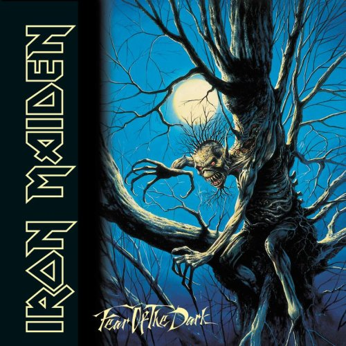 Original album cover of Fear of the Dark by Iron Maiden