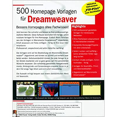 500 Dreamweaver Templates download