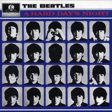 Original album cover of A Hard Day's Night by The Beatles