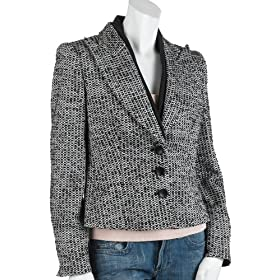 Armani Women's Three Button Tweed Blazer