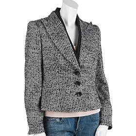 Armani Women's Three Button Tweed Blazer