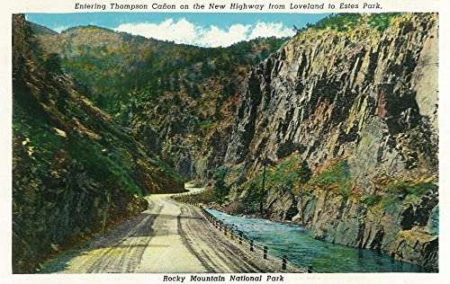 View of Thompson Canyon Entrance on Highway to Estes Park