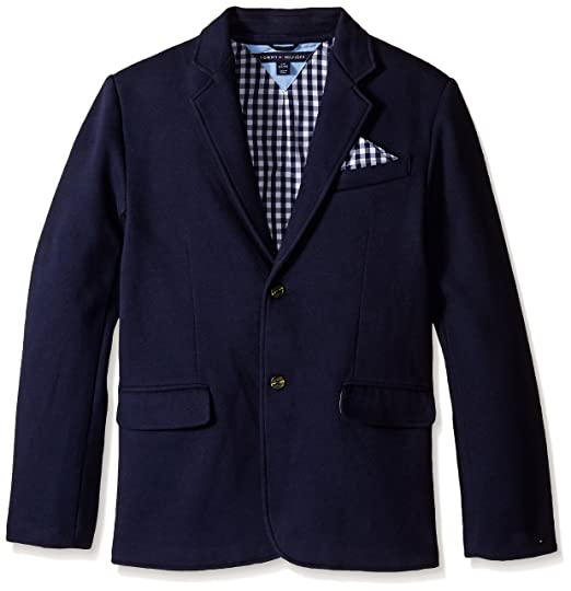 Knit Blazer with Gingham Lining