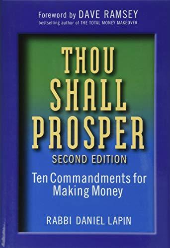 Thou Shall Prosper: Ten Commandments for Making Money-Daniel Lapin