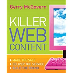 An image of the cover of the book, Killer Web Content. © Amazon.com