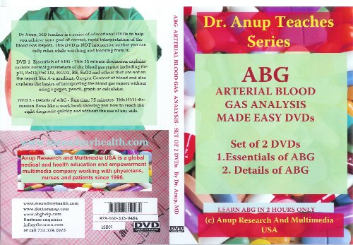 ABG Blood Gas DVD Set of 2 DVDs - Essentials and Details of ABG DN1.1 and DN2.1