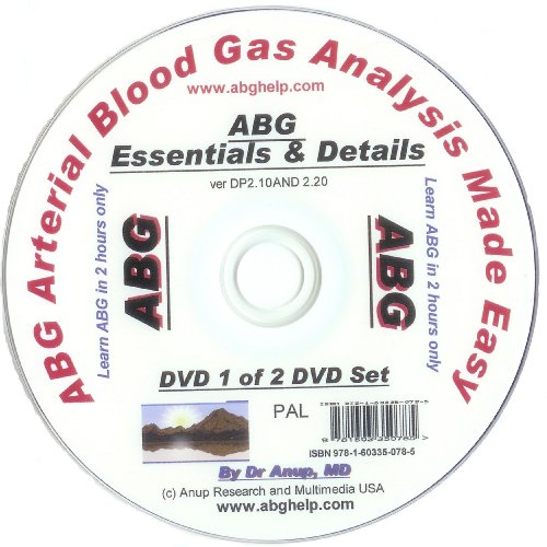 ABG Blood Gas DVD - Essentials of ABG DVD DP1.10 (UK Edition) PAL