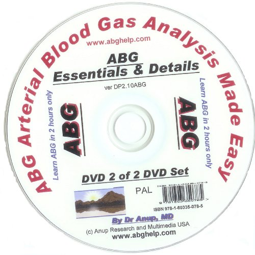 ABG Blood Gas DVD - Details of of ABG DVD DP2.10 (UK Edition) PAL
