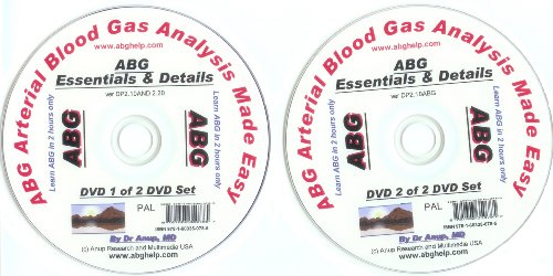ABG Blood Gas DVD Set of 2 DVDs - Essentials and Details of ABG DP1.10 and DP2.10 PAL