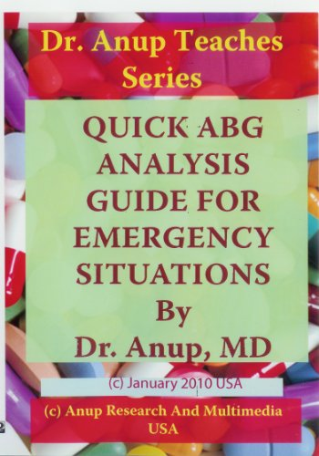 Quick Arterial Blood Gas ABG Analysis guide for Emergency Room and Intensive Care Units (ICU) DVD. Includes ABG Card and Book