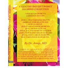 Valentine Day Diamond Gift Basket Collection of 7 DVDS on diabetes