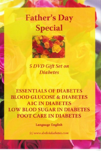 Father's Day 5 DVD Gift Set on Diabetes - Give it and keep him healthy - Language English