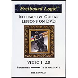 Fretboard Logic Interactive Guitar Lessons on DVD - Video I 2.0 [Interactive DVD]