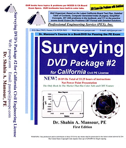 Surveying DVD Package #2 for California Civil PE License