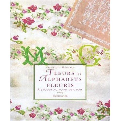 Fleurs et alphabets fleuris a broder au point de croix