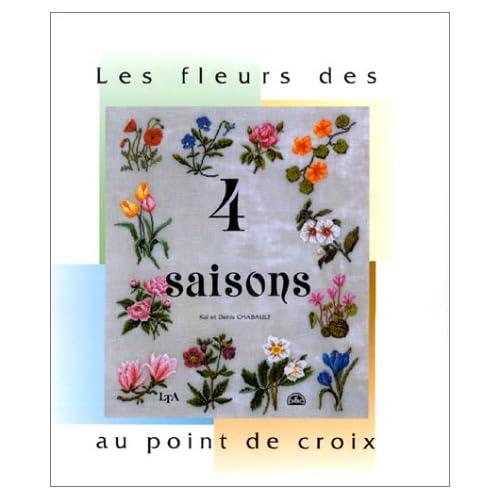 Les Fleurs des quatre saisons au point de croix