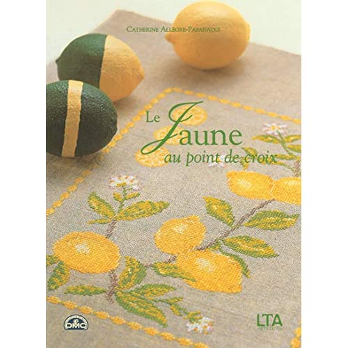 Le jaune au point de croix