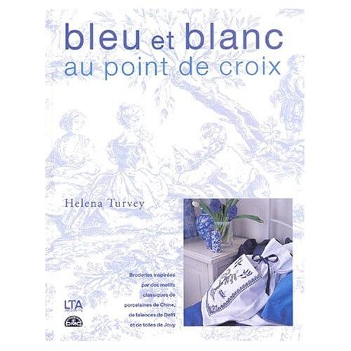 Bleu et blanc au point de croix