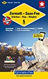 Zermatt / Saas Fee / Grächen / Visp / Simplon 1 : 60 000 Wanderkarte. Walliser Wanderwege